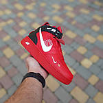 Жіночі зимові кросівки Nike Air Force 1 Mid LV8 (червоні) 3655, фото 5