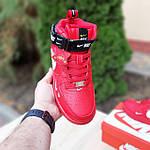 Жіночі зимові кросівки Nike Air Force 1 Mid LV8 (червоні) 3655, фото 6