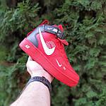 Жіночі зимові кросівки Nike Air Force 1 Mid LV8 (червоні) 3655, фото 3
