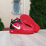 Жіночі зимові кросівки Nike Air Force 1 Mid LV8 (червоні) 3655, фото 9