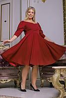 Женское шикарное платье с открытыми плечами батал, фото 1