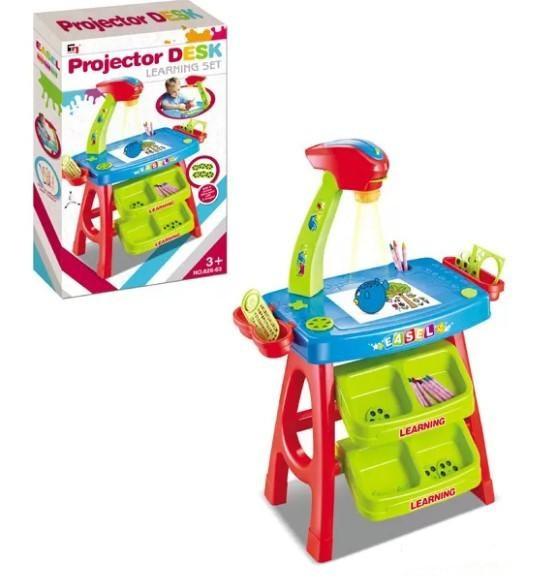 Детский столик-проектор для рисования 628-63, в комплекте идут карандаши и слайды с картинками
