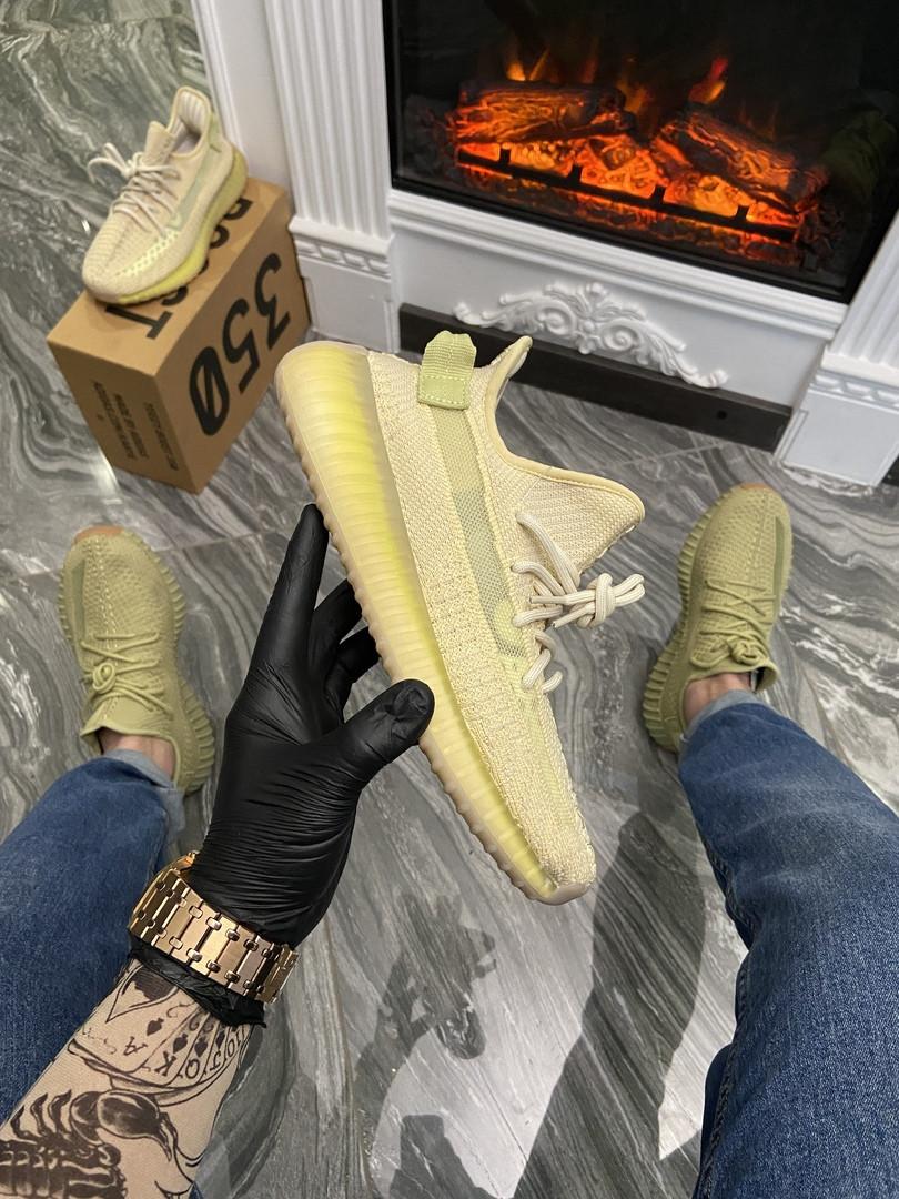 """Женские кроссовки Adidas Yeezy Boost 350 """"Flax"""" (в стиле Адидас)"""