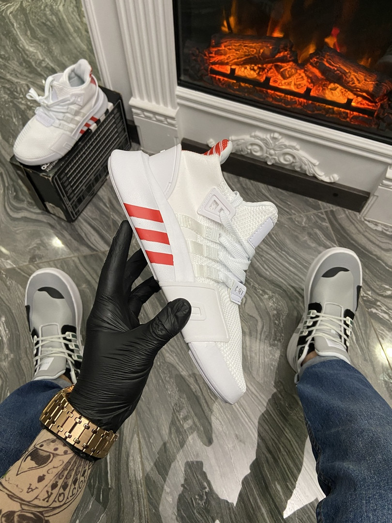"Женские кроссовки Adidas Equipment (EQT) ""White/Red"" (в стиле Адидас)"