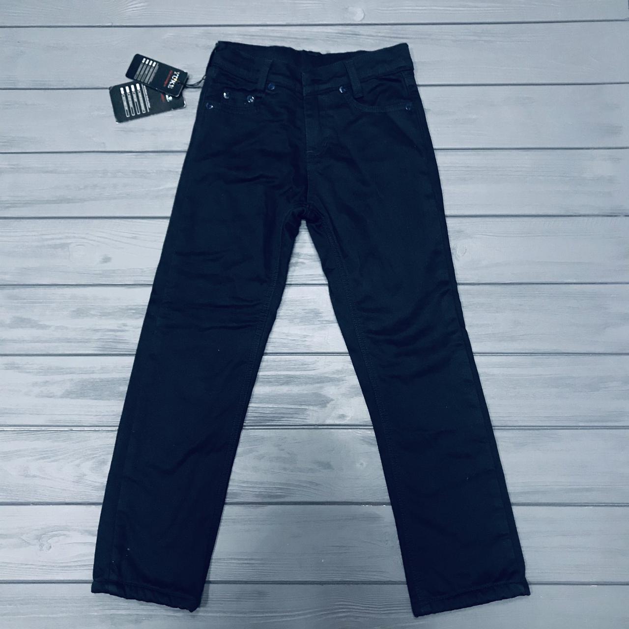 Детские джинсы на флисе  для  мальчиков оптом р.6-9-10 лет