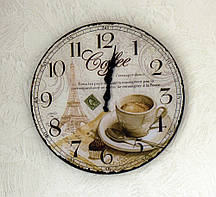 Настенные часы Кофе МДФ d34см Гранд Презент 4258800-1 кофе