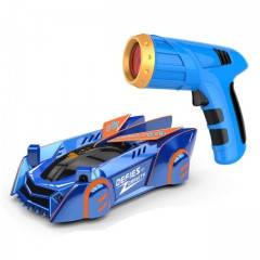 Машина легковая на р/у, ездит по стенам и потолку за лазером синяя