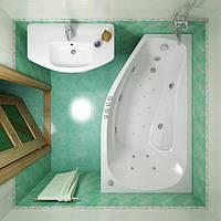 Акриловая ванна тритон  - Скарлет левая(правая), 167х96х58см