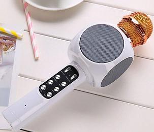 Караоке мікрофон з Bluetooth колонкою WSTER WS-858 Золотий, фото 2