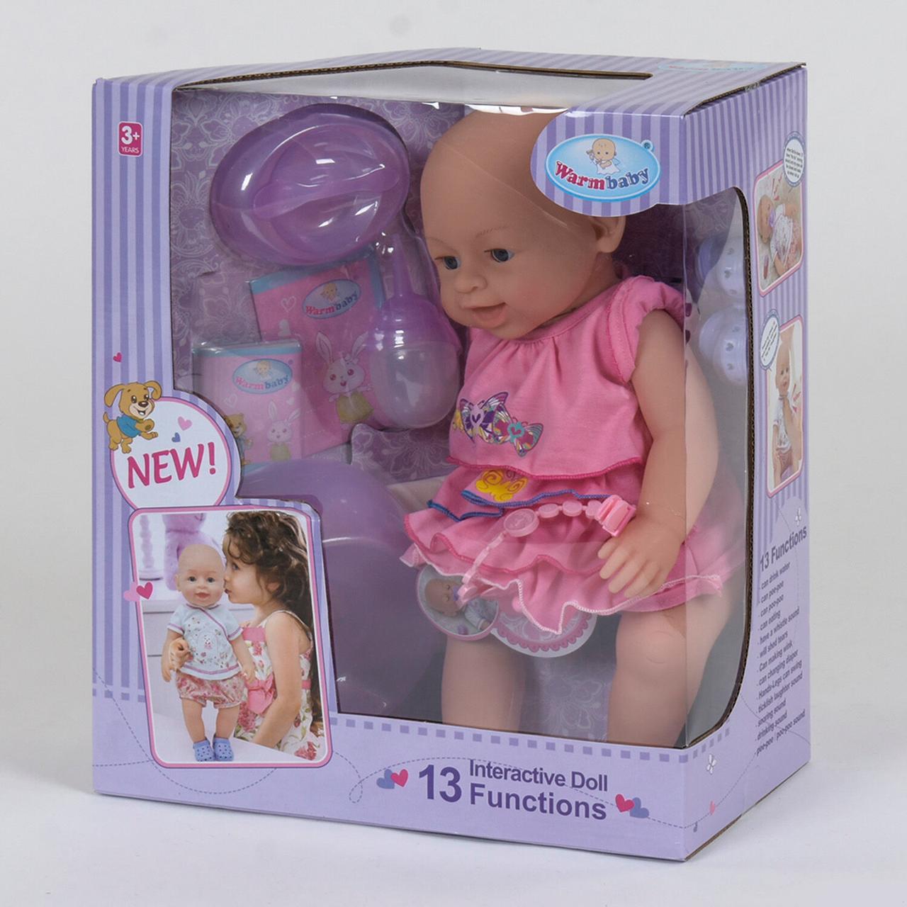 """Кукла Реборн (пупс), девочка """"Warm Baby"""" 13 функций, звуковые эффекты, на батарейках вид 6"""