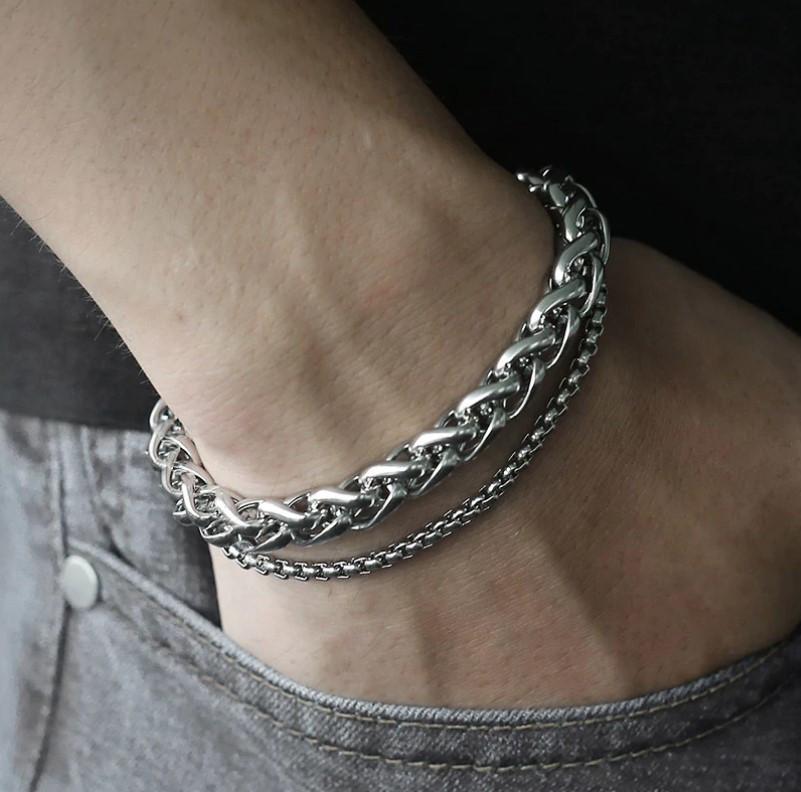 Мужской браслет Stainless Steel Silver