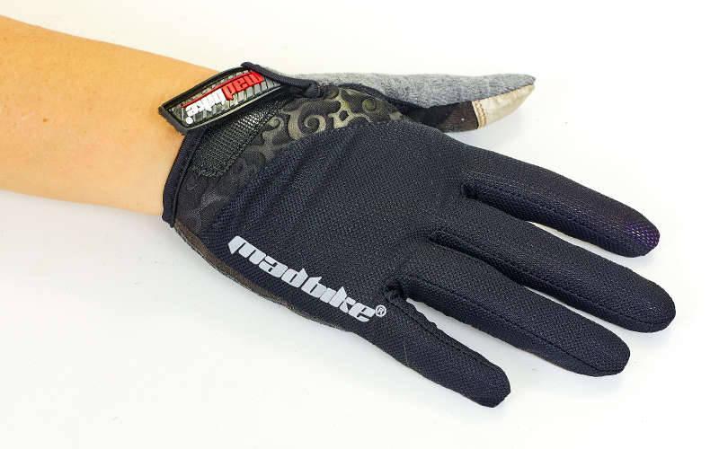 Велоперчатки с закрытыми пальцами MADBIKE SK-13-5 (размер S черный-серый)