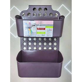 Навесной органайзер на дверку кухни/ванной Бордовый Dunya 09167