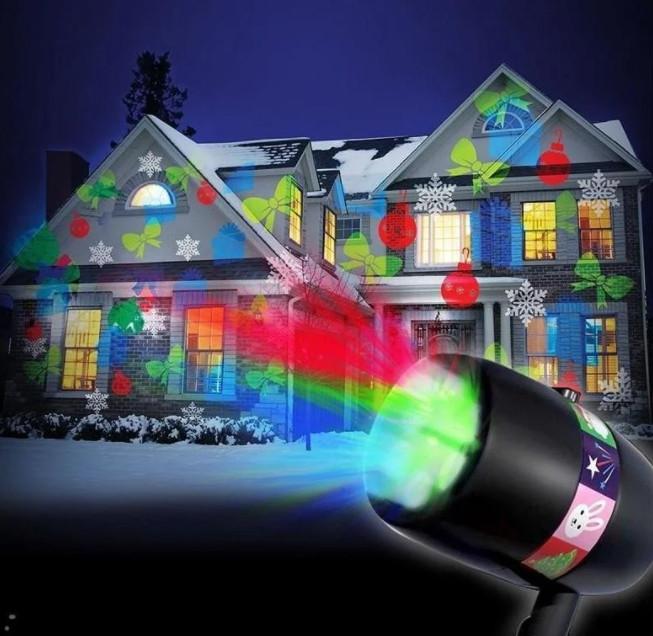 Уличный лазерный проектор Star Shower Slide (12 слайдов)