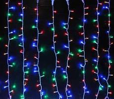 Гирлянда бахрома 80 LED 2м*0.5м, мульті