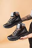 Подростковые ботинки кожаные зимние черные, фото 2