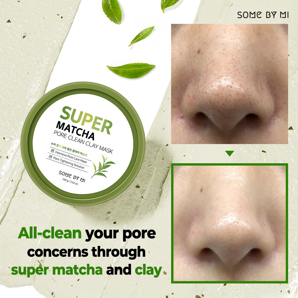 Глиняная маска  Some By Mi Super Matcha Pore Clean Clay Mask, 100 ml
