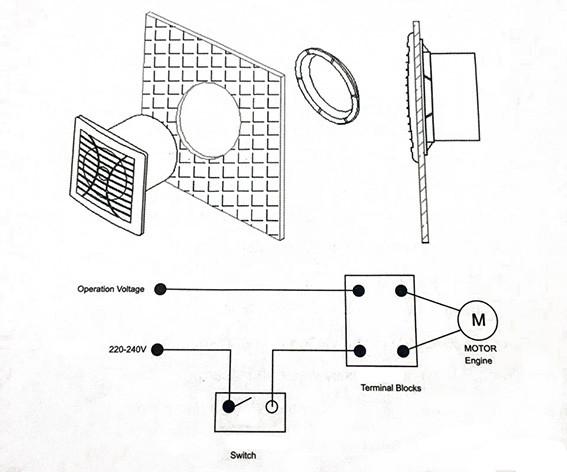 монтаж бытового вытяжного вентилятора  ERAPLAST