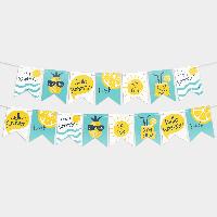 Гирлянда бумажная Лимонад 10 флажков
