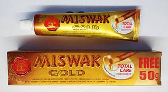 Зубная паста мисвак miswak  ГОЛД GOLD 120 грамм + 50 грамм = 170 грамм (большая упаковка) АКЦИЯ! Египет