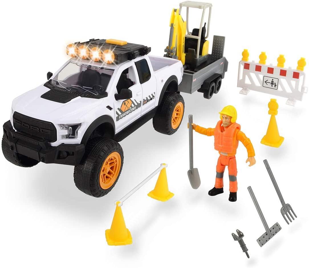 Игровой набор Playlife. Строительство дороги со звуковыми и световыми эффектами Dickie Toys 3838004