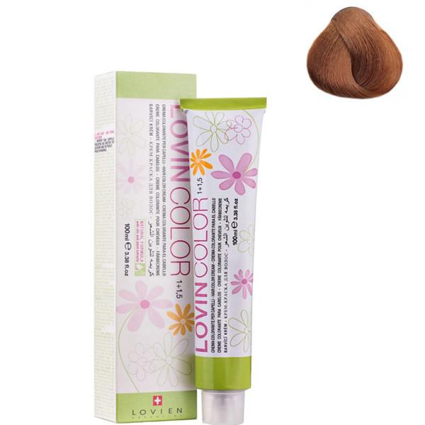 Стойкая крем-краска для волос Lovien Essential Lovin Color №7.3 Золотисто-русый 100 мл