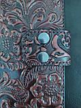 Жіночий гаманець  «Хвилька» з натуральної шкіри, фото 8