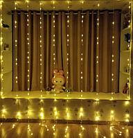 Гирлянда Водоспад 240 LED 2m*2m теплий-білий, фото 1