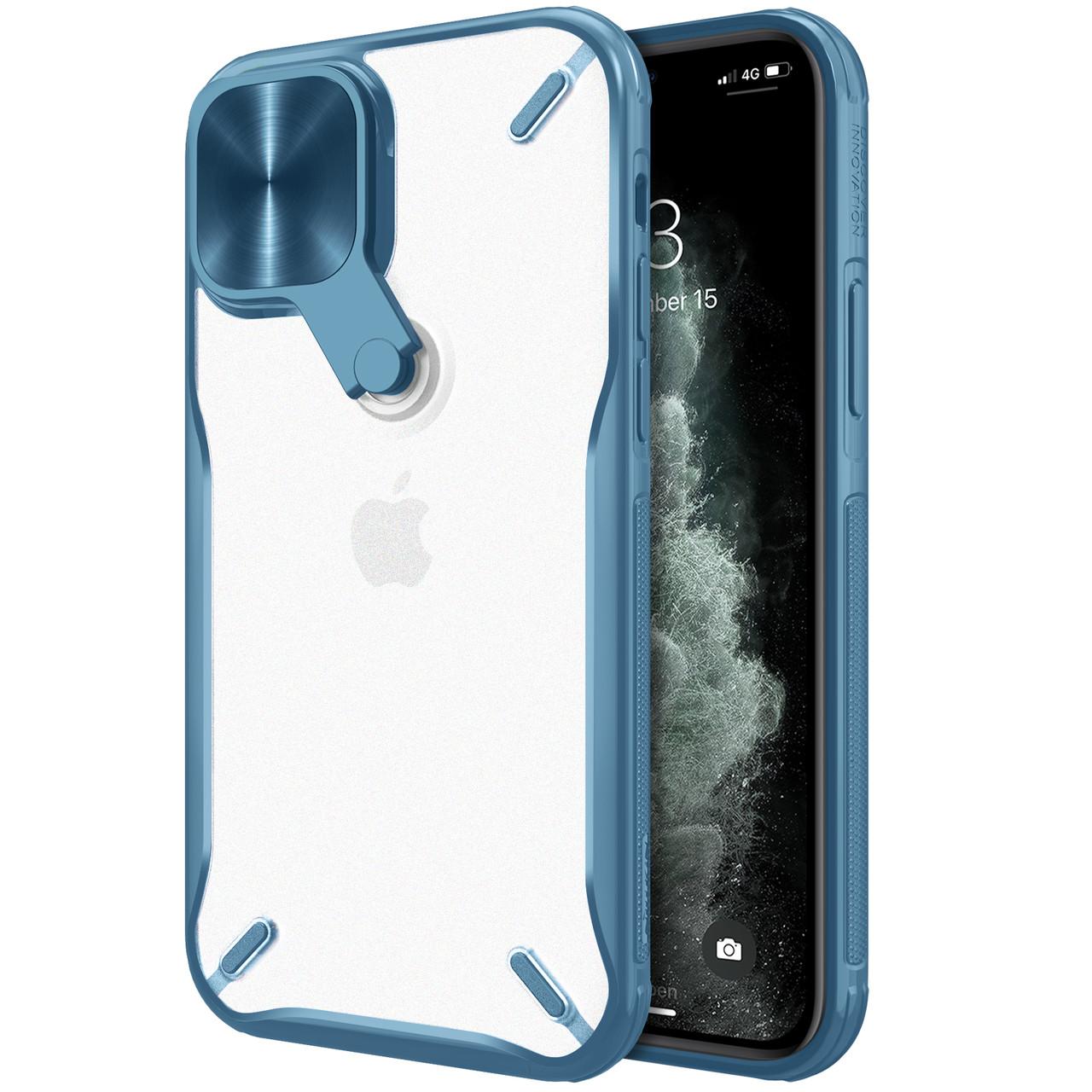 "Nillkin Apple iPhone 12/12 Pro (6.1"") Cyclops Case Blue Чехол Бампер"