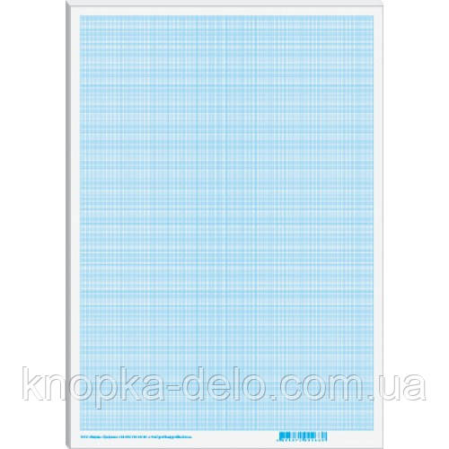 Папір масштабно-коорд.  А4, (300х200мм), 1лист, блакитний _МК4101