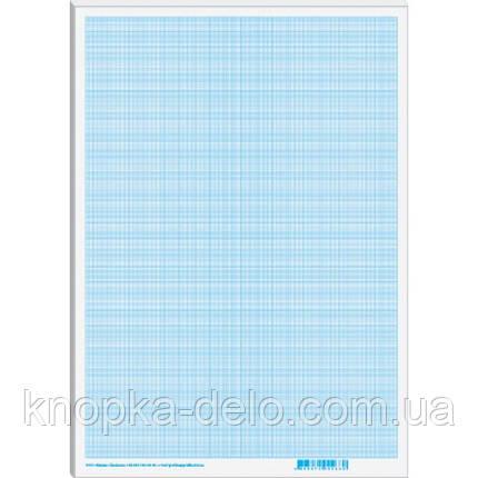 Папір масштабно-коорд.  А4, (300х200мм), 1лист, блакитний _МК4101, фото 2