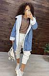 Женская джинсовая парка куртка на меху, фото 5