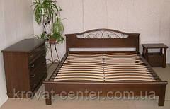 """Кровать """"ФАНТАЗИЯ - 2"""" (с ковкой). Массив - сосна, ольха, дуб."""