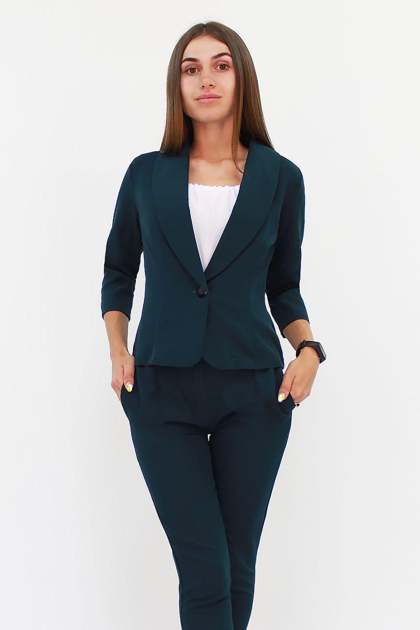 Модний жіночий костюм Melage, темно-зелений