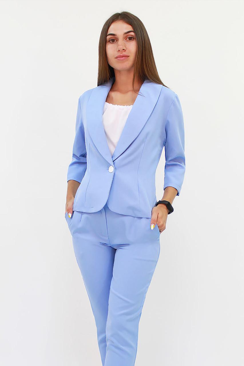 Модный женский костюм Melage, голубой