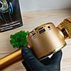Беспроводной Bluetooth микрофон-караоке WS-669, золотой, фото 4