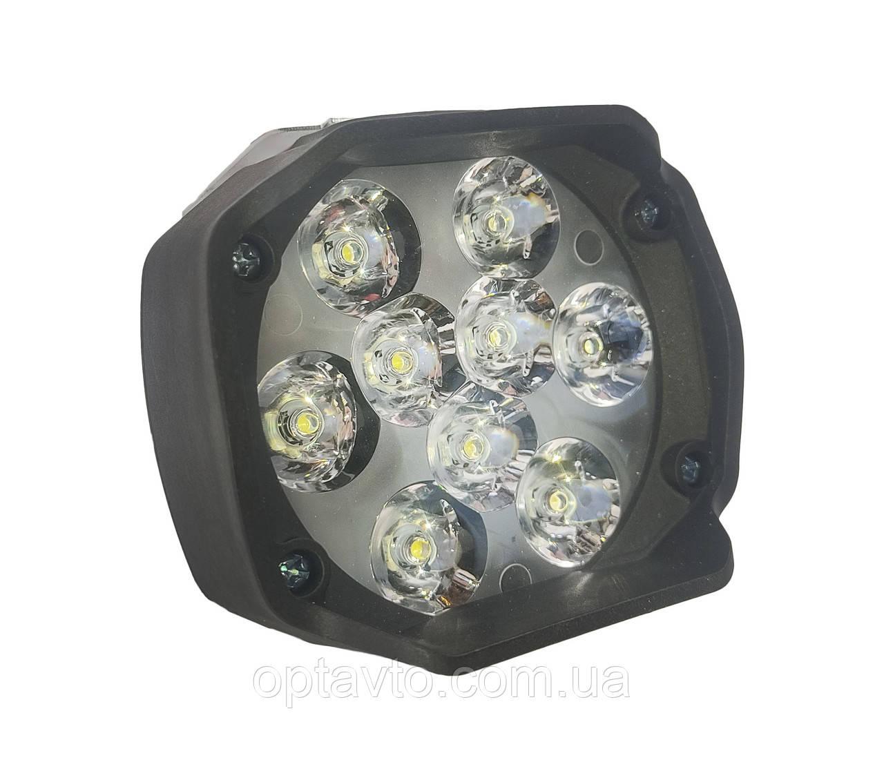 LED фары ОПТОМ от 2-х штук! Светодиодная лэд фара на 9 диодов. DC 9-85v, 15w.