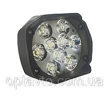 LED фары ОПТОМ. Светодиодная лэд фара на 9 диодов. DC 9-85v, 15w.