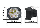 LED фары ОПТОМ от 2-х штук! Светодиодная лэд фара на 9 диодов. DC 9-85v, 15w., фото 3