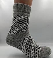 Носки шерстяные женские Лана Орнамент серый