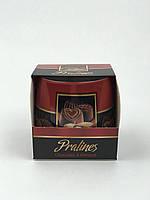 Свеча ароматизированная в стеклянном стакане, Bartek / Pralines: Chocolate & Almond, 30 часов горения