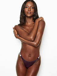 💋 Трусики зі стразами Victoria's Secret Shine Strap Brazilian Panty, Фіолетові