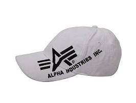Бейсболка Alpha Big a Cross White
