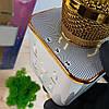 Беспроводной bluetooth караоке микрофон DM Q7 Karaoke Gold, фото 5