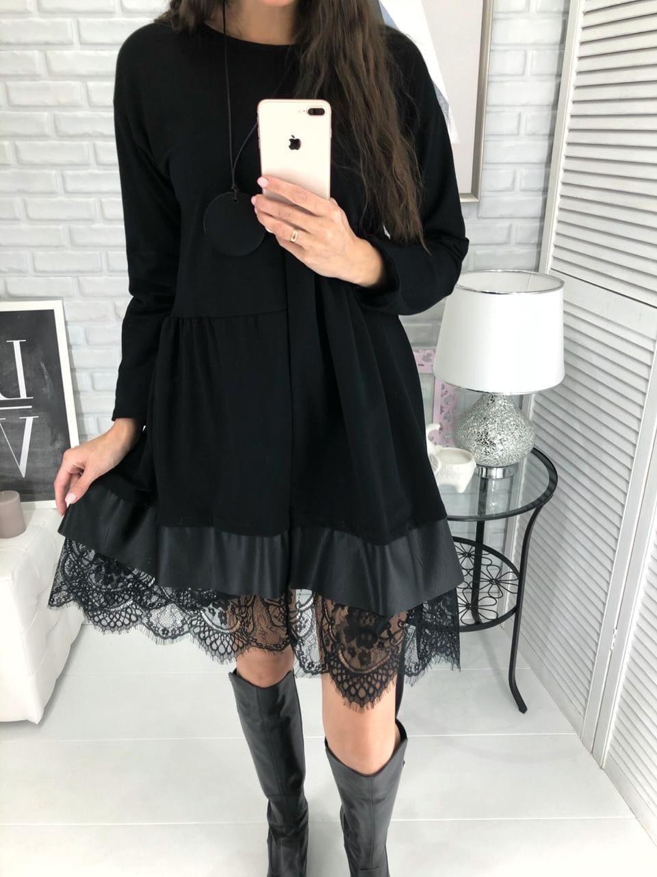 Женское платье-разлетайка кт339