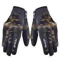 Перчатки мото VEMAR  VE‑173 цвет  хаки, (сенсорный палец)
