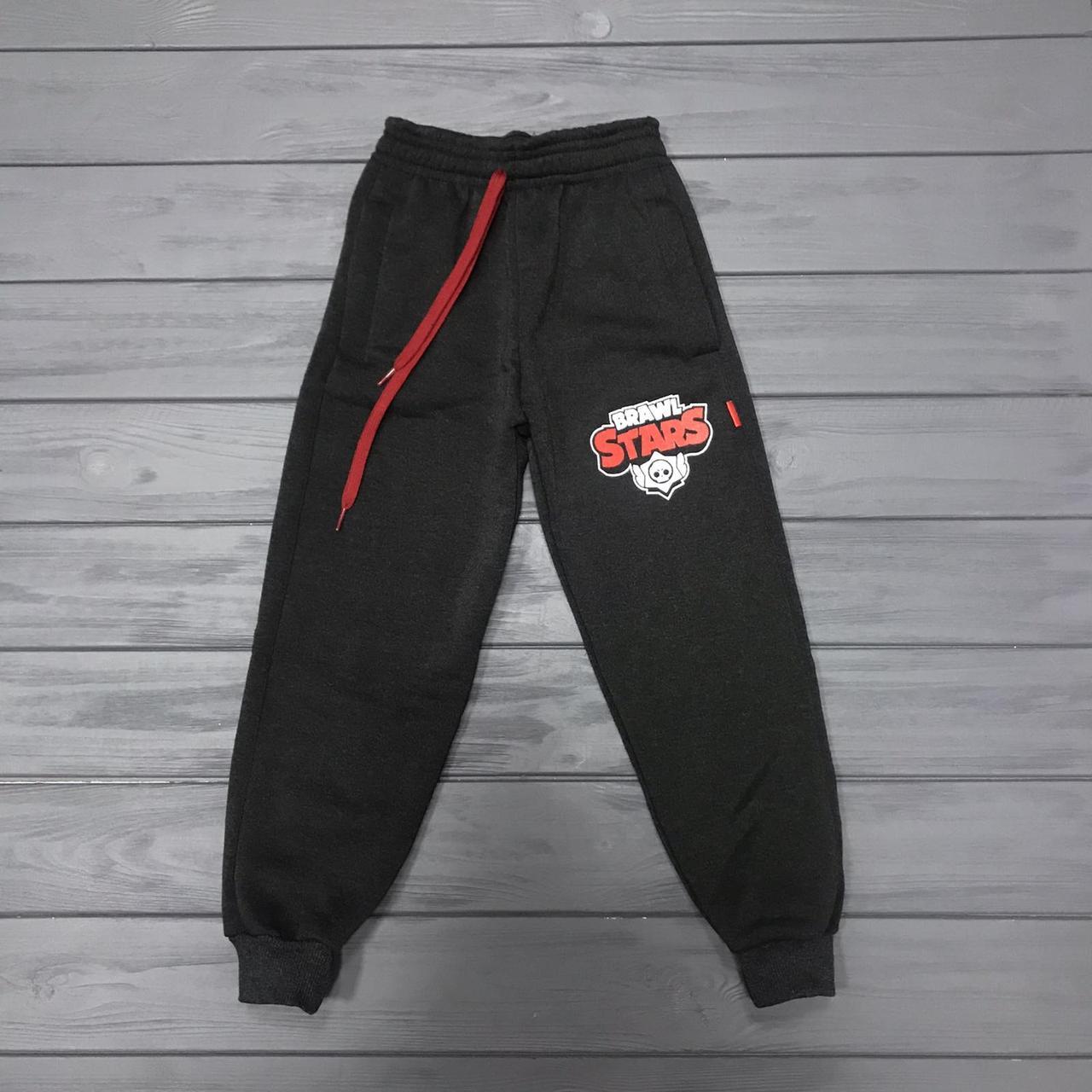 Спортивные штаны с начесом для мальчиков  оптом р.3-6 лет