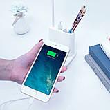 Настольная аккумуляторная Led лампа с функцией Power Bank Розовая, фото 2