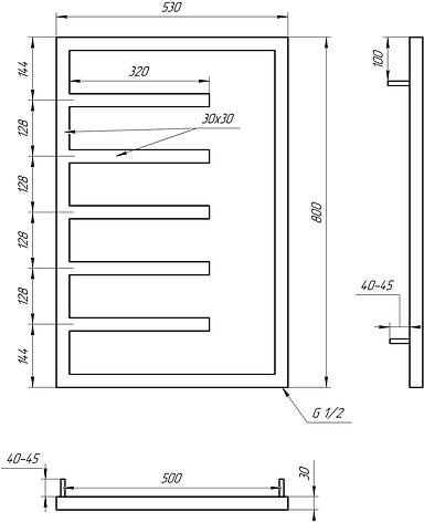 Полотенцесушитель Genesis-Aqua Combo 80x53 см, фото 2