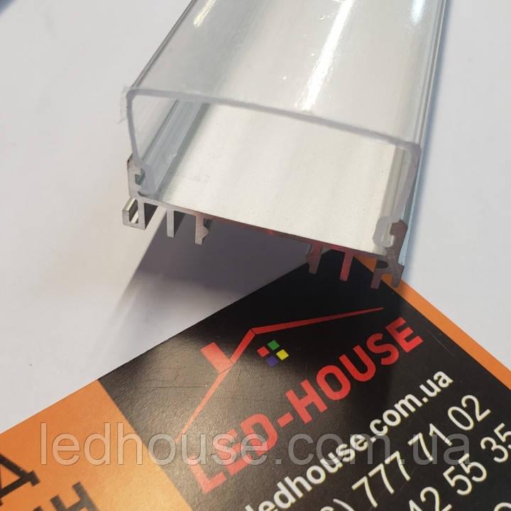 Профиль ЛСС для Фито светильников с Прозрачным рассеивателем
